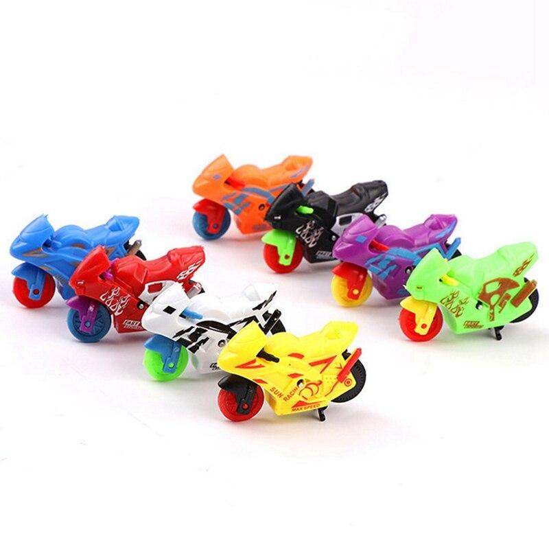 Newborn Boys Girls Cartoon Cute Car Toys Pressure Inertia Motorcycle Baby Educational Toys Children Birthday Gift Random Colors
