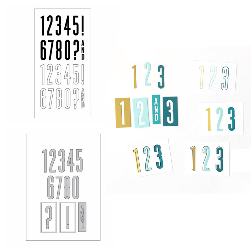 All the Numbers Stamp Set and All the Numbers Dies For DIY Scrapbooking Paper Craft Handmade Card Punch Decorative die Cut