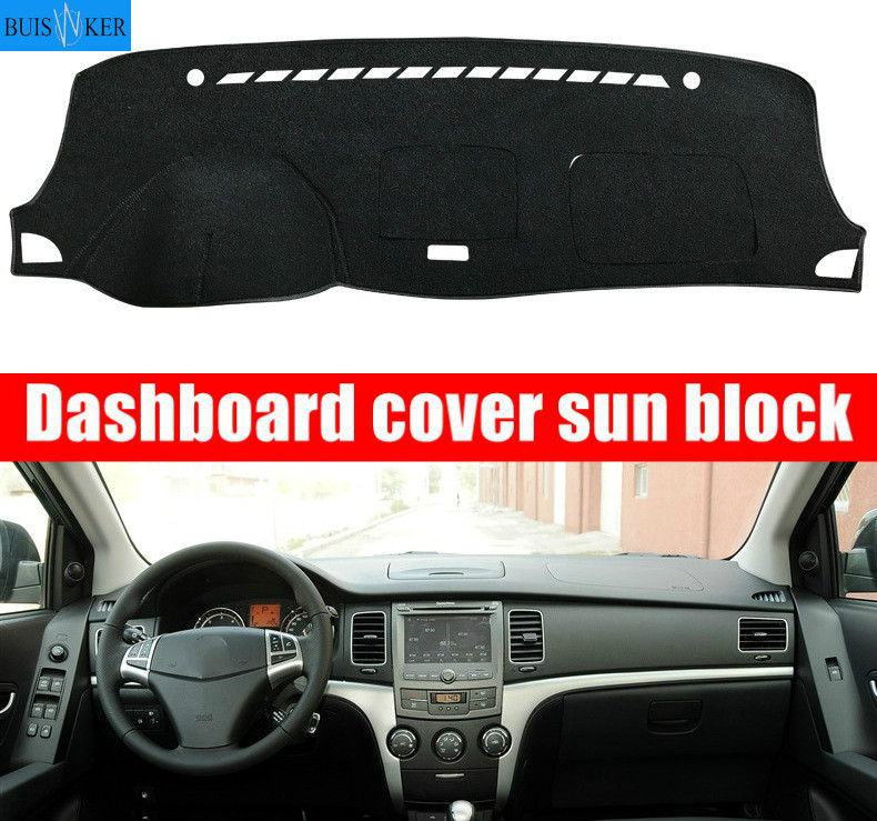 Dashboard Cover Sun Shade Non-slip Dash Mat Pad Carpet Car Stickers Interior Accessories For SsangYong Korando 2011 2012 2013 image
