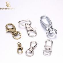 20 Pcs /Pack Cute Keyholder Split Rings Keyring Car Keychains Swivel Lobster Clasp Clips Hook Keychain Key Ring DIY Jewelry цены онлайн