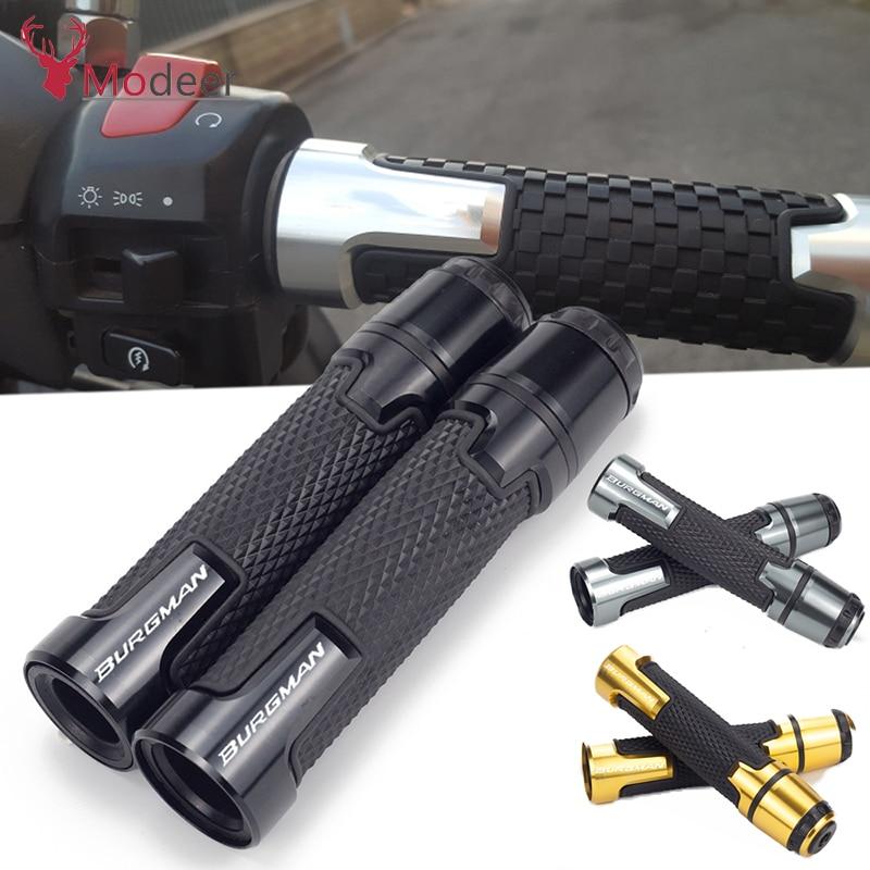 7/8'' 22mm Burgman Handlebar Handle Grip CNC Motorcycle Ends Handles For SUZUKI BURGMAN 650 400 125 200 AN650 AN400 AN125 AN200