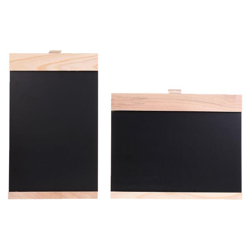 Desktop Message Wooden Blackboard Easel Chalkboard Kids Writing Advertising Board Bar