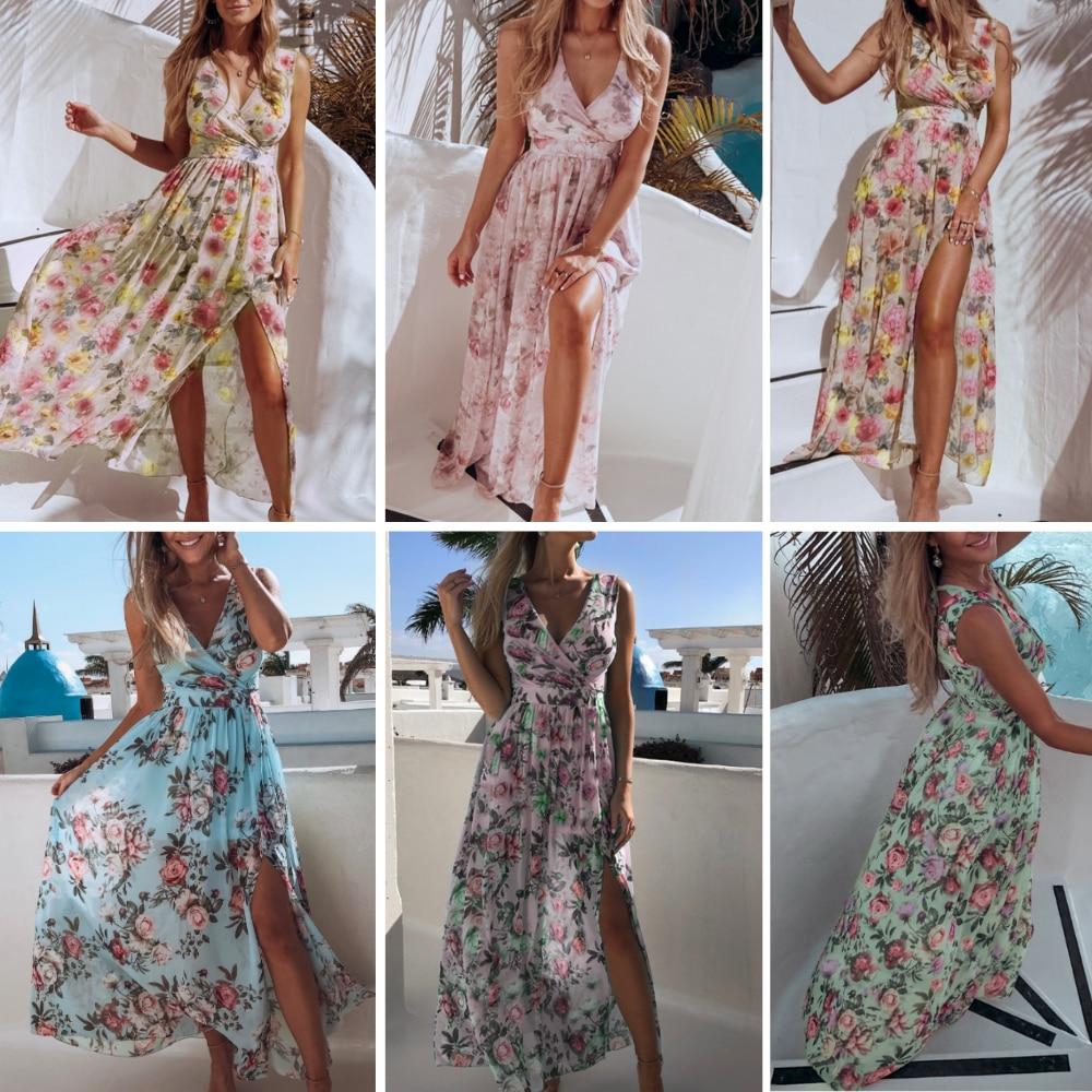 Zomerjurk Vrouwen Vestidos Casual Tie Dye Kleding Gewaad Femme Chic Strand Jurken Chiffon Herfst Maxi Jurk 2020 Vrouw Jurk