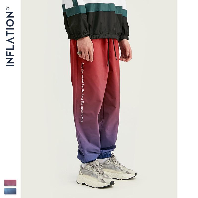Image 2 - INFLATION 2019 FW Men Die Dye Cargo Pants Loose Fit Men Thin  Cargo Pants Elastic Waist Men Streetwear Tie Dye Pants 93420WHarem  Pants