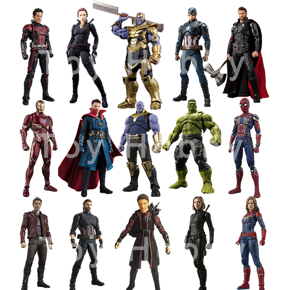 2019-shf-avengers-4-endgame-font-b-marvel-b-font-legends-captain-america-black-widow-thanos-iron-spider-man-star-load-huk-action-figure-toy