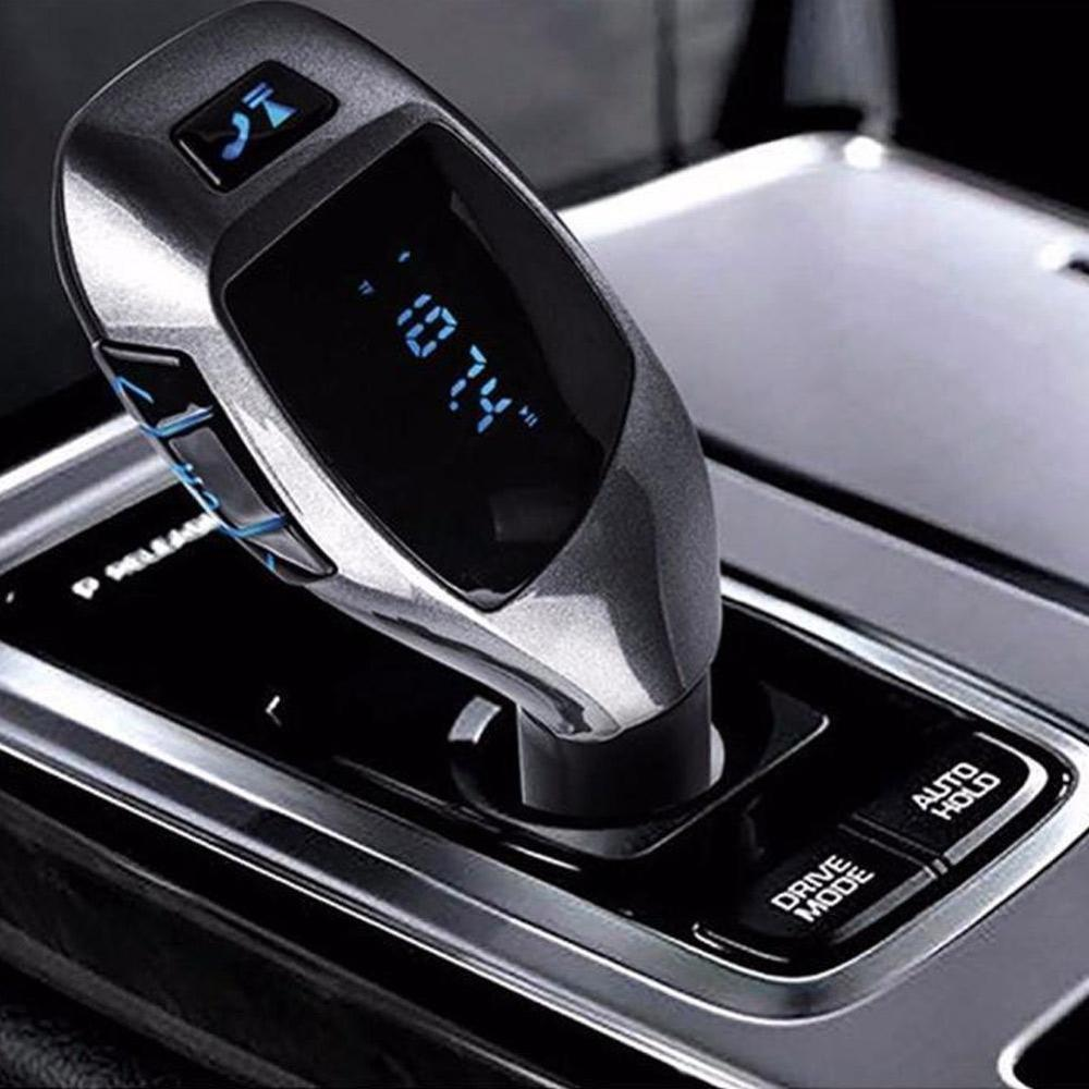 Car Bluetooth 5.0 Wireless FM Transmitter Handsfree Audio Receiver MP3 Player 2.1A Double USB Fast Charger Car Accessories