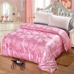 Mulberry Silk Comforter Jacquard Real Silk four seasons Quilt Single Double Bed Twin Full Queen King Size Home textiles Duvets