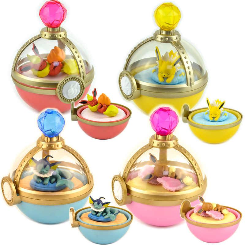 Japonya kapsül oyuncaklar sevimli Pokemon kawaii pikachu Squirtle Psyduck Charizard Cubone Sandshrew Articuno kör kutu sahne minyatür figürler