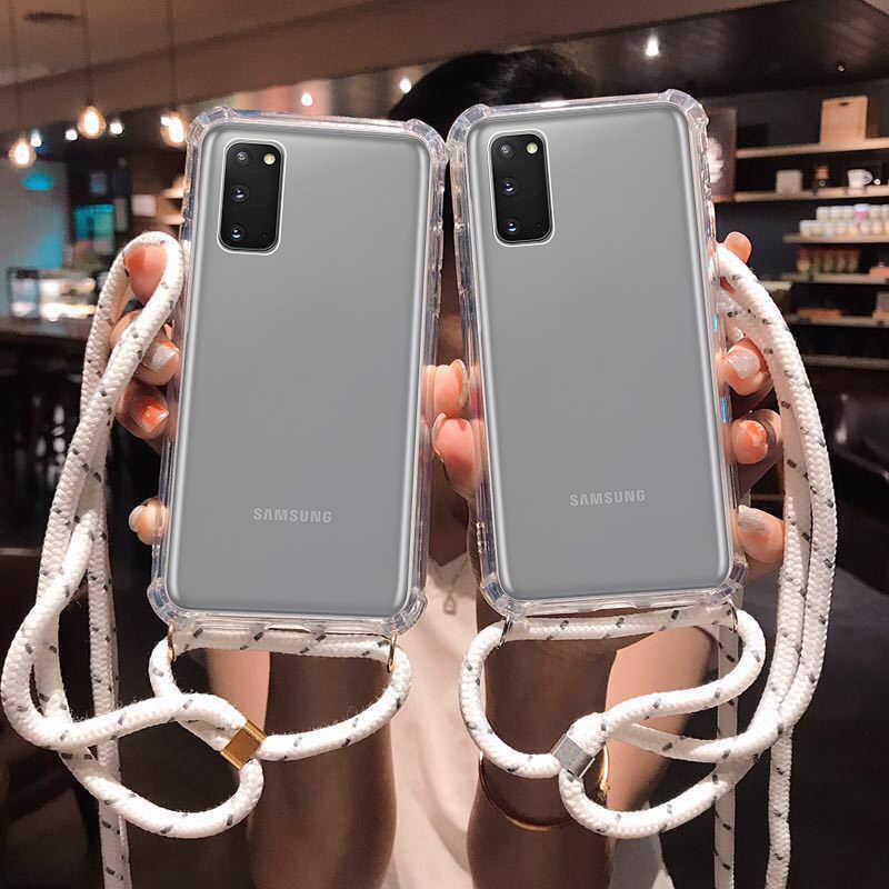 สำหรับ Samsung Galaxy S20 Ultra S10 5G S9 S8 PLUS S10E หมายเหตุ 9 10 Plus Crossbody Lanyard สร้อยคอไหล่สายคล้องคอ