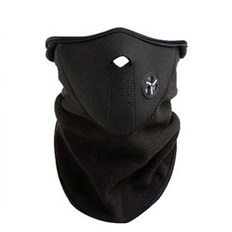 Motorcycle Half Face Mask Cover Fleece Unisex Ski Snow Moto Cycling Warm Winter Neck Guard Scarf Warm Protecting Maske