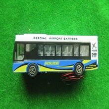 3 шт Архитектура свечение модель автобуса сплав frame прохладный