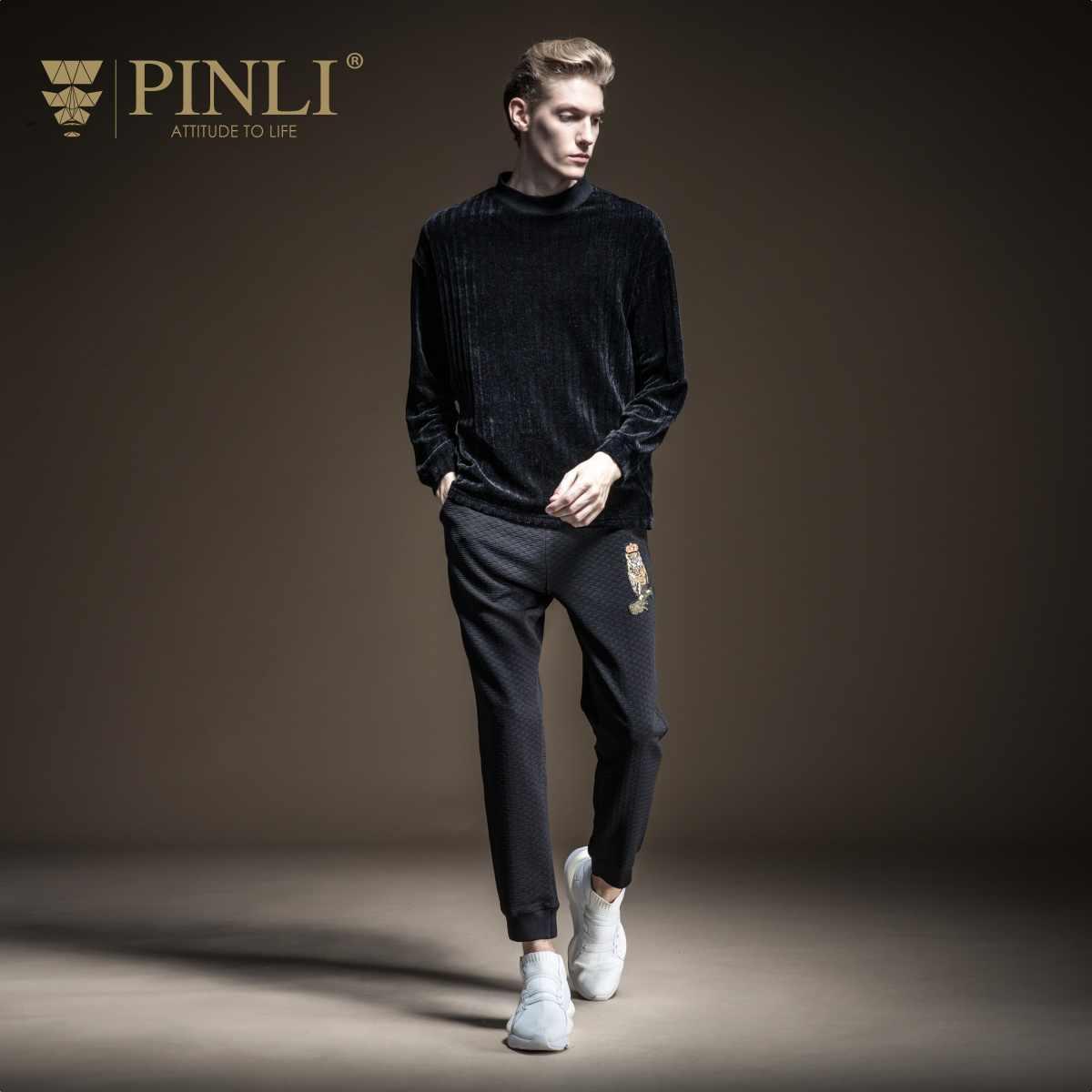 Linkin Park/распродажа товаров Pinli, новая осенняя коллекция 2019 года, Мужская Вельветовая футболка с длинными рукавами и высоким воротником, пальто B193311215