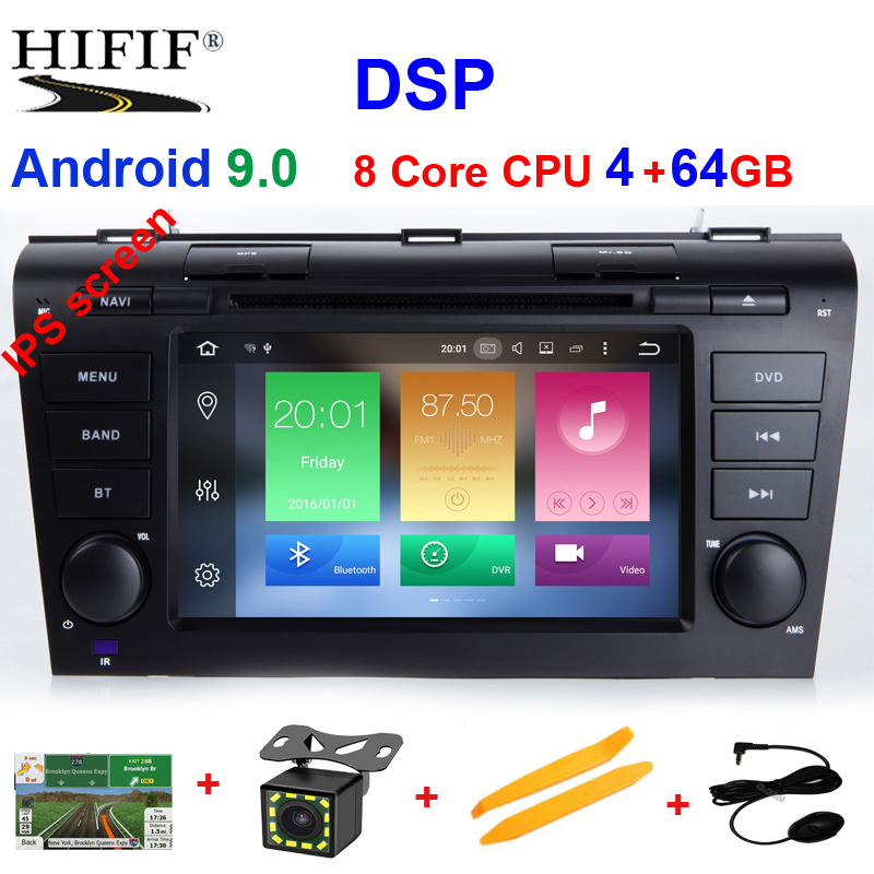 DSP IPS 1024*600 8 Core 32G ROM 7'' Android 9.0 Car DVD Player for <font><b>MAZDA</b></font> <font><b>3</b></font> 2004-2009 <font><b>GPS</b></font> Navigation Newest Radio +Free 8g <font><b>maps</b></font> image
