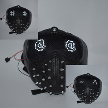 Jogo relógio cães 2 marcus chave cosplay máscara pvc expressão mutável máscaras led