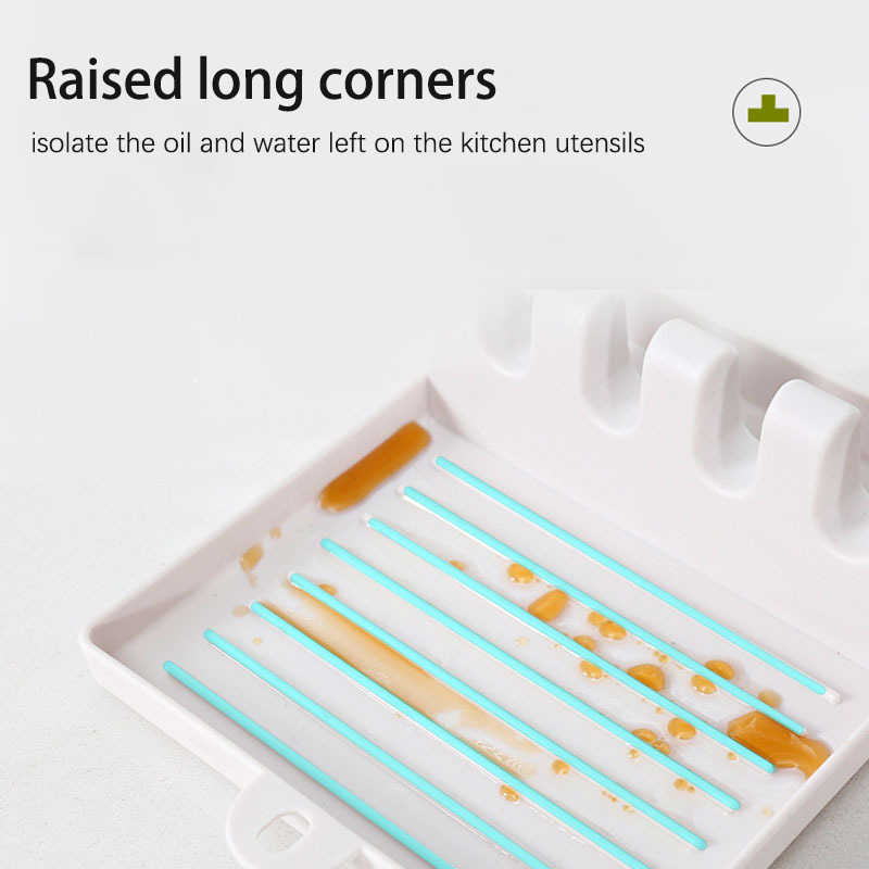 מקלות אכילה פרוס מחזיק החלקה כפות כרית מטבח כף מחזיקי מזלג מרית מדף מדף מארגן שאר כפית פלסטיק