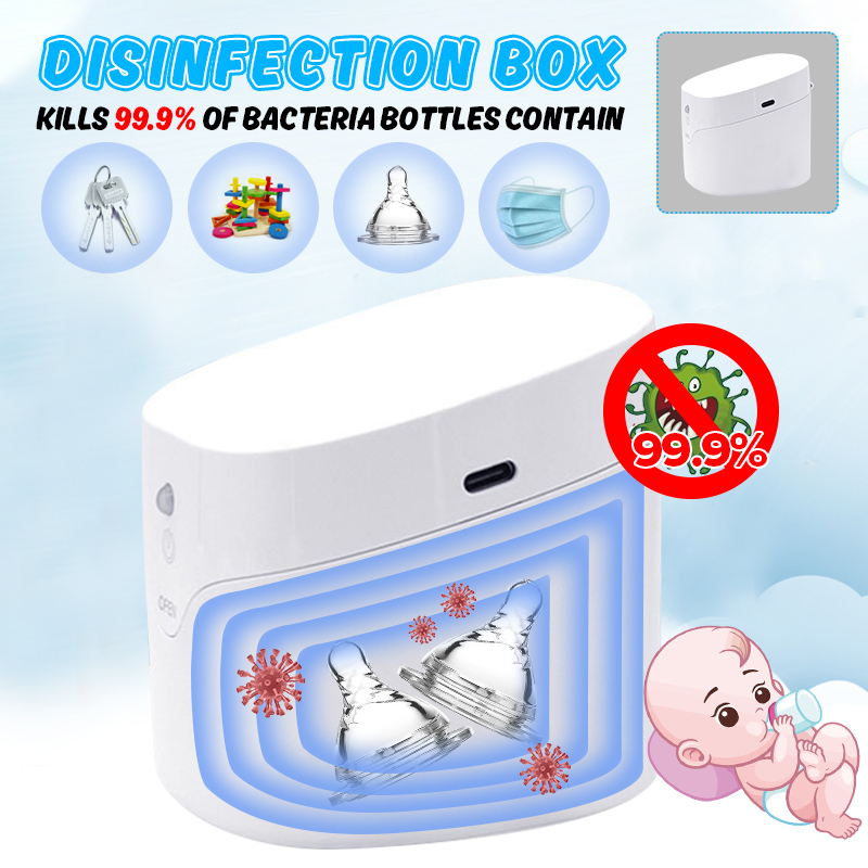 2020 Portable UV Sterilizers 59s Fast Ultraviolet Light Disinfection Cabinet For Mini Nail Tools Toothbrush Nipple Earring Watch