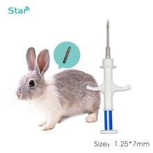 10 Pcs ISO11784/5 134.2 Khz Rfid Transponder Spuit FDX B Rfid Injector Met 1.25*7 Mm Microchip Voor huisdieren Dier Chip Injectie