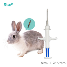 10 pces iso11784/5 134.2 khz rfid transponder seringa FDX B rfid injector com 1.25*7mm microchip para animais de estimação animal chip injeção