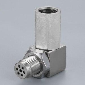 Image 3 - Yetaha 90 درجة ضوء المحرك مزيل سيل مع محول حفاز صغير لمعظم الفواصل مستشعر الأوكسجين M18 X 1.5 موضوع O2
