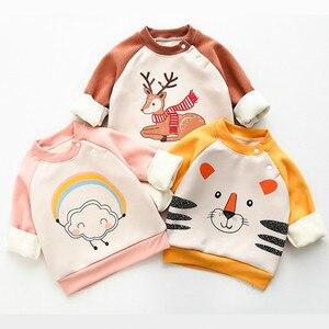 Dzieci Plus aksamitne chłopięce i dziewczęce jesienno-zimowa sukienka z długimi rękawami dziecięca dziecięca gruba ciepła Rocker aksamitna góra