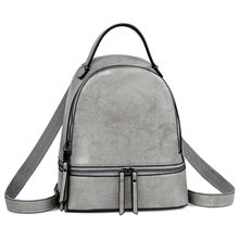 2019 Cow Leather Backpack Women European Fashion Laptop Backpack College Students School Bags Genuine Leather Bagpack sale C1189(China)