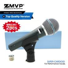 2 sztuk klasy A profesjonalny BETA dynamiczny przewodowy mikrofon BETA58A super kardioidalny 58A Mic dla wydajności na żywo wokal Karaoke etap