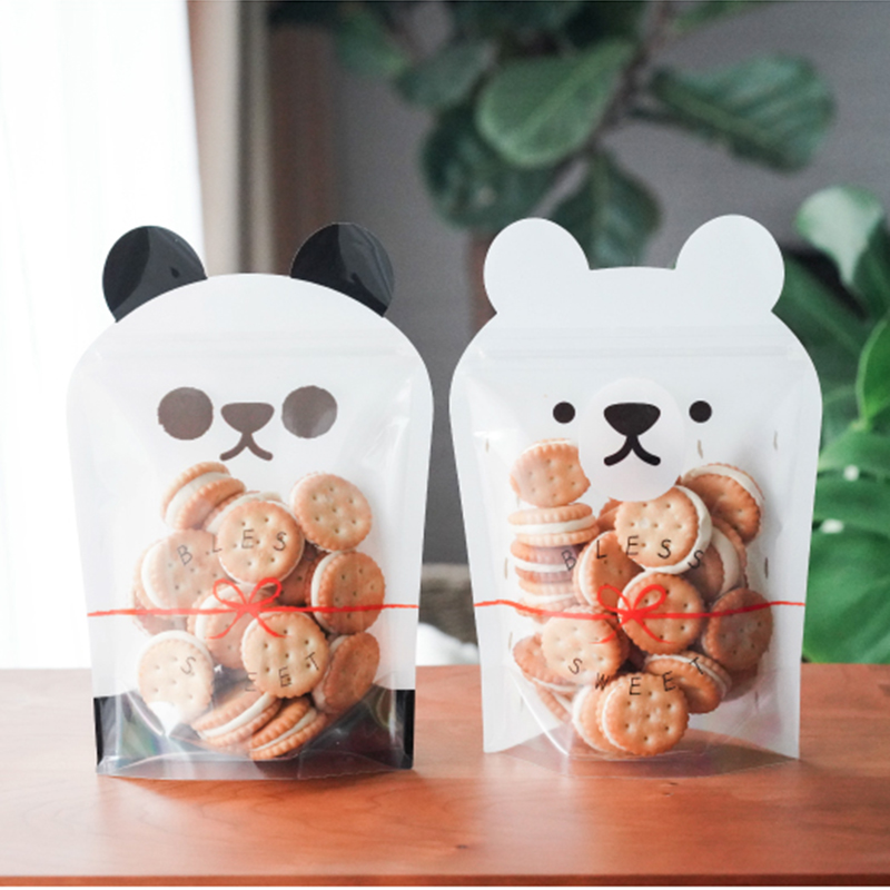 50pcs Reusable Cartoon Animals Bags Nuts Candy Cookies Bag Seal Fresh Food Storage Bag Snacks Zipper Sealed Kitchen Organizer