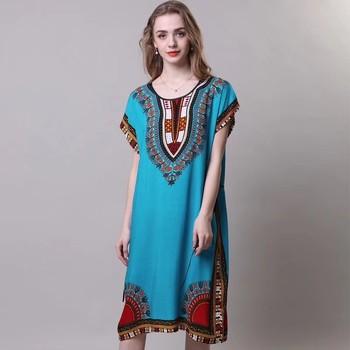 New Print Lady Summer Home Dress Female Nightdress Cotton Short Sleeve Robe Nightgown Casual Sleepwear Kimono Bathrobe Gown fox print nightdress