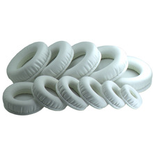 protein skin memory foam Ear Pads for 45mm -110mm Headset EarphonesEar Cover Headphone accessories white yw#