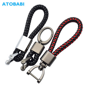 Leather+Alloy Car Key Ring Keychain Holder Room Keyring Motorcycle Key Chain For Lada VW Golf 8 MK3 Peugeot 407 SEAT BMW E90 E46