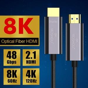 Image 5 - 8K Optische Faser HDMI 2,1 Kabel ARC HDR 4K 120Hz High Definition Multimedia Interface Kabel für PS5 Samsung QLED TV Verstärker