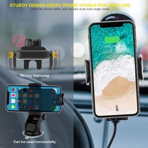 Image 2 - 15 واط التلقائي لقط سيارة لاسلكية شاحن آيفون لسامسونج شاحن سيارة لاسلكية سريعة مع حامل هاتف شحن سريع