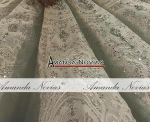 Image 3 - Amanda Novias design full beading bridal dress wedding dress black brides luxury royal dress