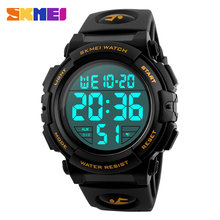 SKMEI Men Electronic Digital Watch Alarm Calendar Chronograph Sport Watches Waterproof Male Wristwatch Relógio de homem 1258(China)