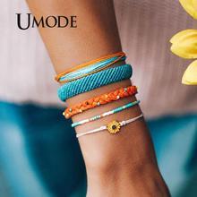 UMODE Bohemian DIY Weave Rope Bracelets Set For Women Men Girls Fashion Handmade Wrap Friendship Charm Bracelet Bangles PB0497
