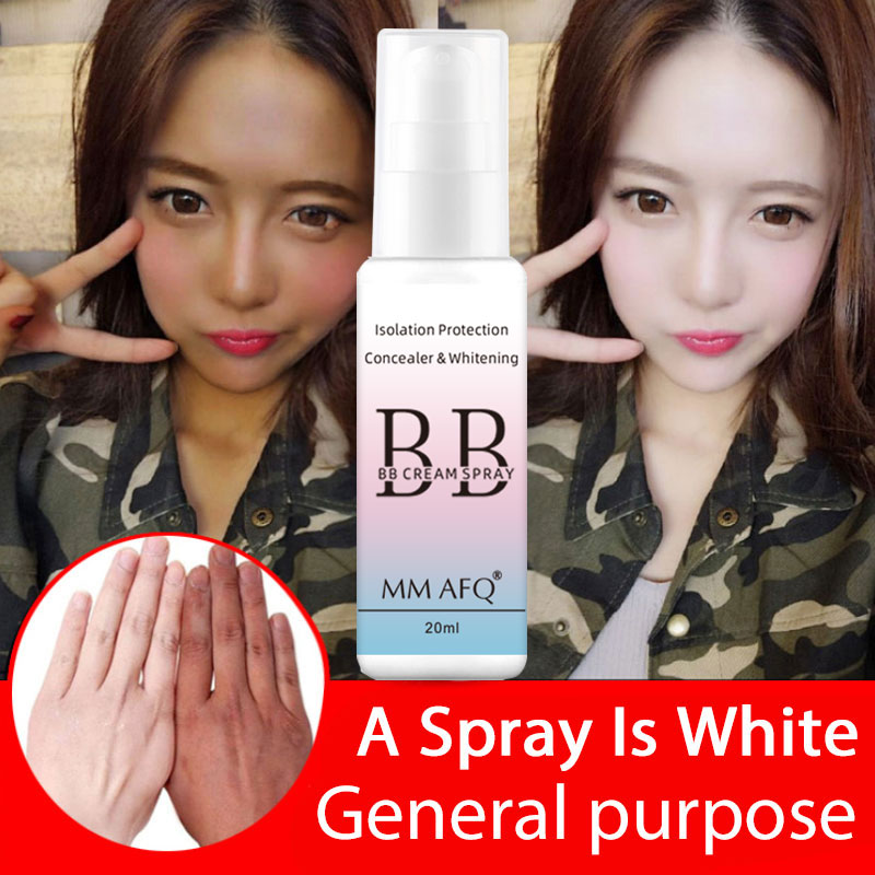 New 20ML Portable Whitening Sunscreen Spray Body Sunscreen Concealer Moisturizing Cream BB Cream Foundation Makeup Cosmetics