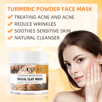Auquest Turmeric Clay Mask Deep Cleansing Acne Exfoliating Facial Mask Moisturizing Whitening Face Cosmetics Beauty Skin Care 4