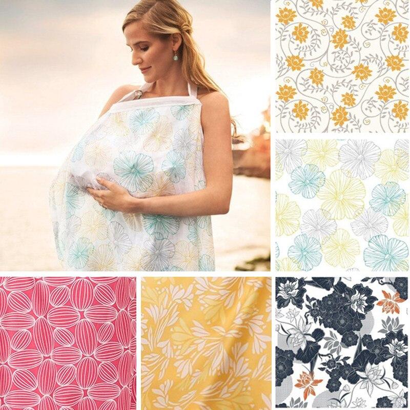 Couverture d'allaitement bébé infantile respirant coton mousseline tissu d'allaitement L grande taille grande couverture d'alimentation d'allaitement cape tablier 72*102