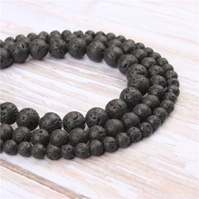 Wholesale Volcanic Stone Natural Stone Beads Round Beads Loose Beads For Making Diy Bracelet Necklace 4/6/8/10/12MM