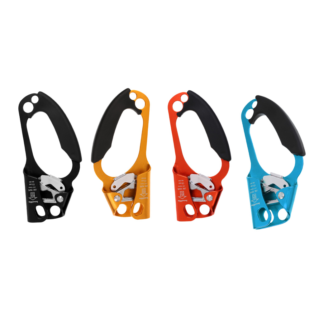 Arborist Tree Rock Climbing Right/ Left Hand Ascender Riser 8-13mm Rope Clamp Grasp Device - CE Approved Engineering Caving
