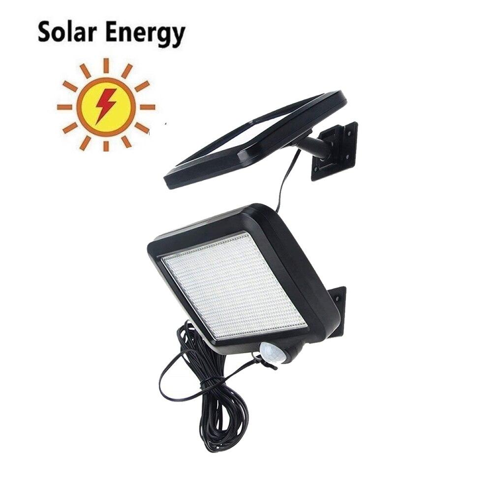 30/56 LED Solar Powered PIR Motion Sensor Wall Light Waterproof Outdoor Garden human body sensor Solar Lamp Chandelier Pendant Solar Lamps     - title=