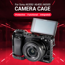 cage dslr camera a6400 For sony cage smallrig sony a6500 a6400 camera cage gaiola dslr para sony a6500 a6400 a6300 cage(China)