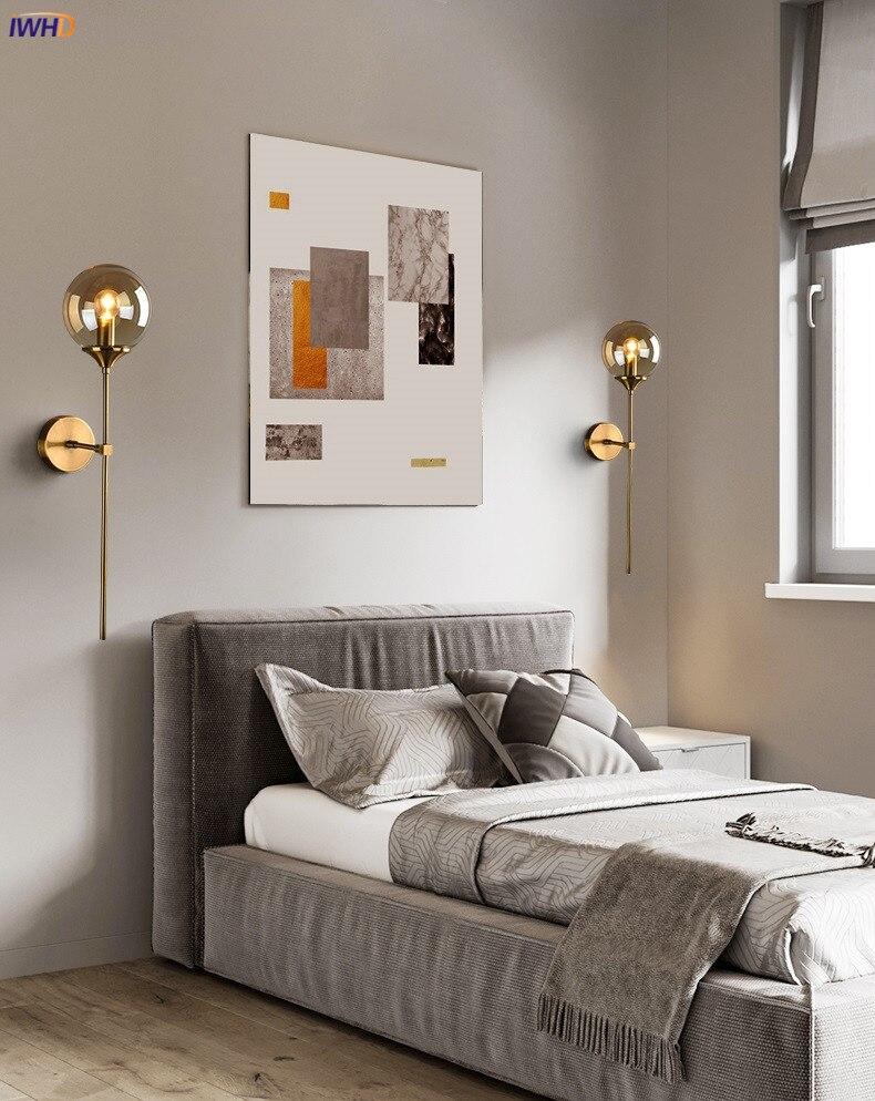Nordic Modern Wall Lamp Beside Bedroom Glass Ball LED Wall Lights Fixtures Wandlamp Lighting Bathroom Mirror Stair Light (5)