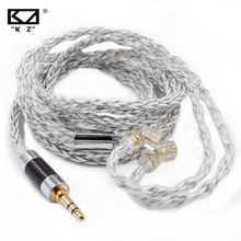 KZ Earphone 8 Core Cable Silver Blue Hybrid 784 cores Silver plated Upgrade Cable For KZ ZSX ZAX ZS10 PRO ZSN PRO C12 CA16 C10