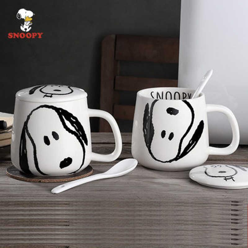 for Kids Baby Children KE4A Made in Japan Set of 2 Mugs Peanuts Mug Snoopy Numbers White Plastic Mug Cup 200ml