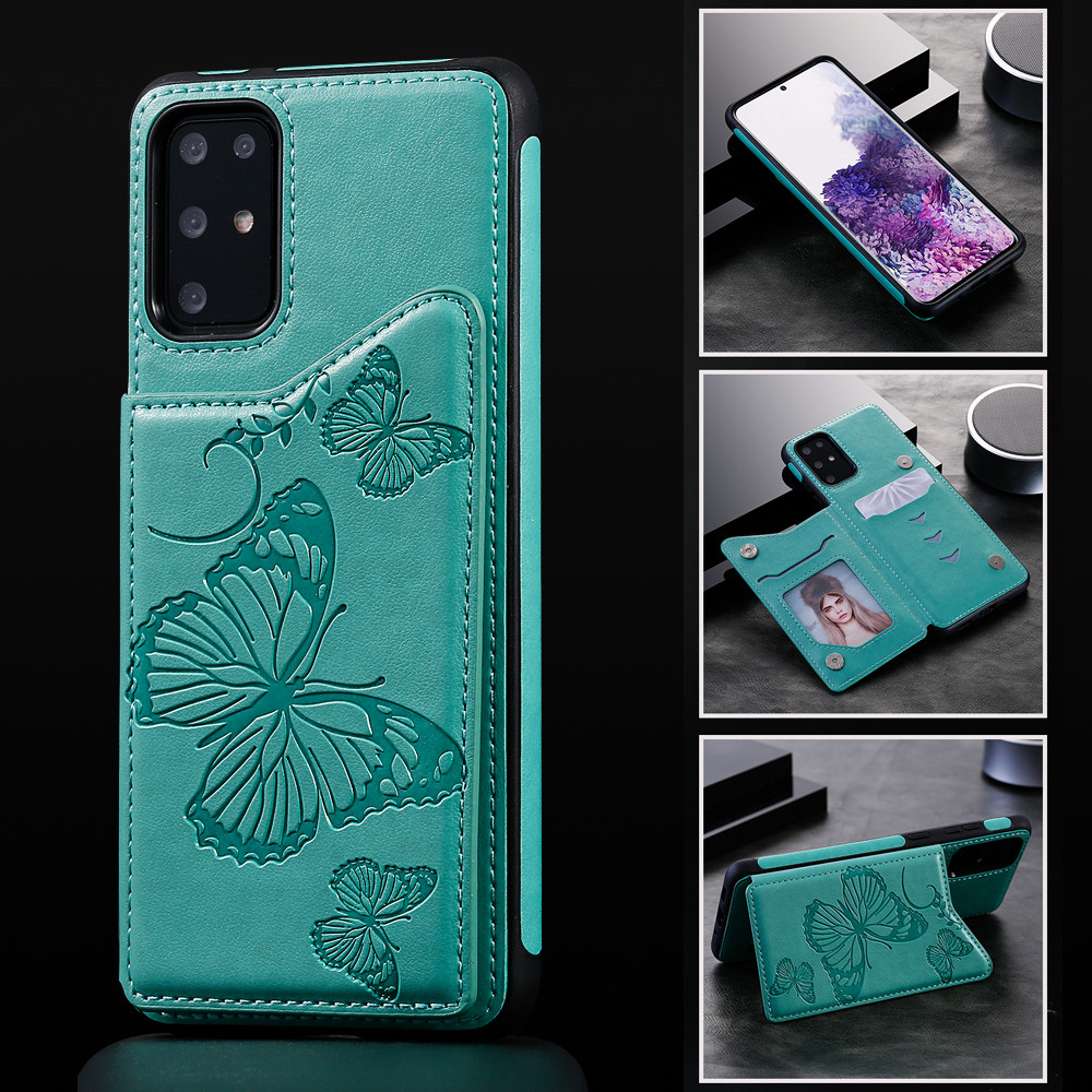 FLYKYLIN Case For Samsung S10 S20 S9 S8 Plus S20 Ultra S10E Note 8 9 Note10 Pro Cover Luxury Card Wallet Bracket Leather Shell image