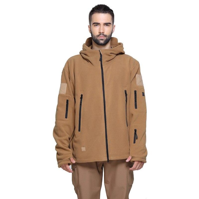 Men Winter Thermal Fleece Jacket Outdoors Sports Climbing Hiking Fishing Outdoor Army Jackets Softshell Windproof Outdoor Jacket