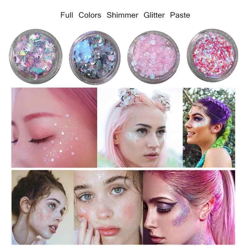 1Pcs 2020 Gezicht Glitter Glitter Eye Make Stickers Waterdicht Gemakkelijk Tear Scheur Mol Stickers Kinderen Tonen Liefde Ster Stickers hot