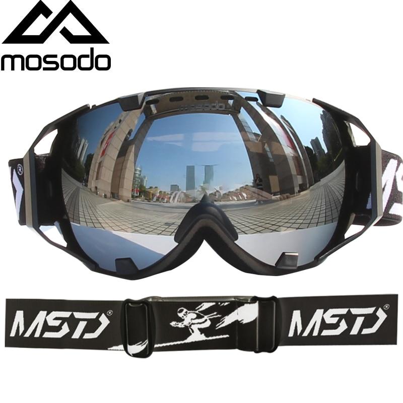 Mosodo Men Women Ski Goggles Snowmobile Snowboard Skiing Anti-fog Polarized Eyewear Snow Large Spherical Ski Glasses