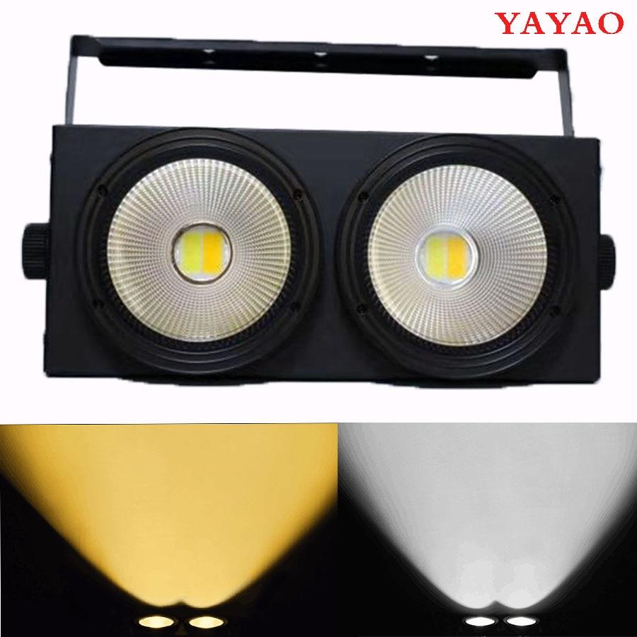 2 Los ojos de 2x100w COB LED DMX etapa efecto luz cegadora genial y blanco cálido profesional y DJ 200W